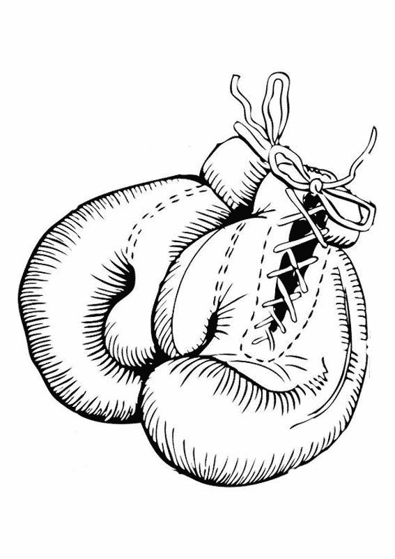 Coloriage gant de boxe dessin gratuit imprimer - Gant de boxe dessin ...