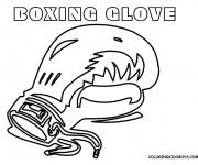 Coloriage et dessins gratuit Gant de Boxe stylisé à imprimer