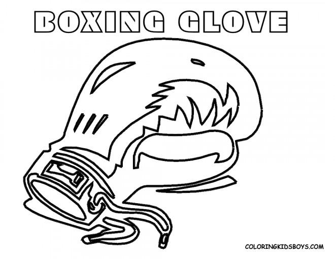 Coloriage gant de boxe stylis dessin gratuit imprimer - Gant de boxe dessin ...