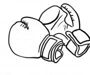 Coloriage et dessins gratuit Gants pour Boxeurs à imprimer