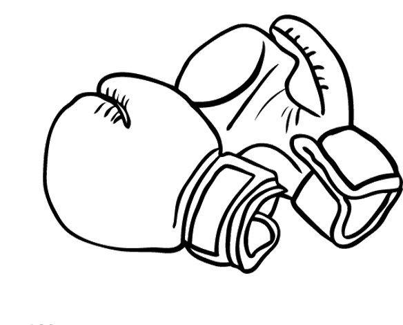 Coloriage gants pour boxeurs dessin gratuit imprimer - Coloriage boxer ...