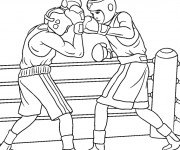 Coloriage Match de Boxe