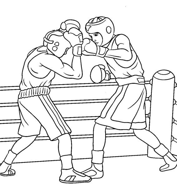 Coloriage match de boxe dessin gratuit imprimer - Dessin gant de boxe ...