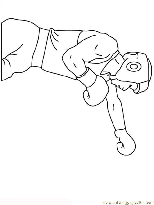 Coloriage et dessins gratuits Sport de Boxe à imprimer