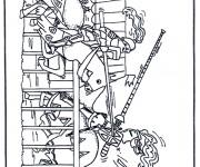 Coloriage dessin  Chevalier 27