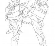 Coloriage dessin  Combat 12