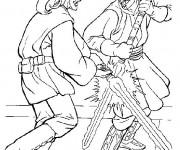 Coloriage dessin  Combat 14