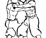Coloriage dessin  Combat 4
