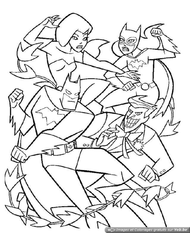 Coloriage Combat Batman Et Joker Dessin Gratuit A Imprimer