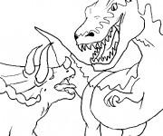Coloriage Combat de Monstres