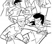 Coloriage Combat dessin animé