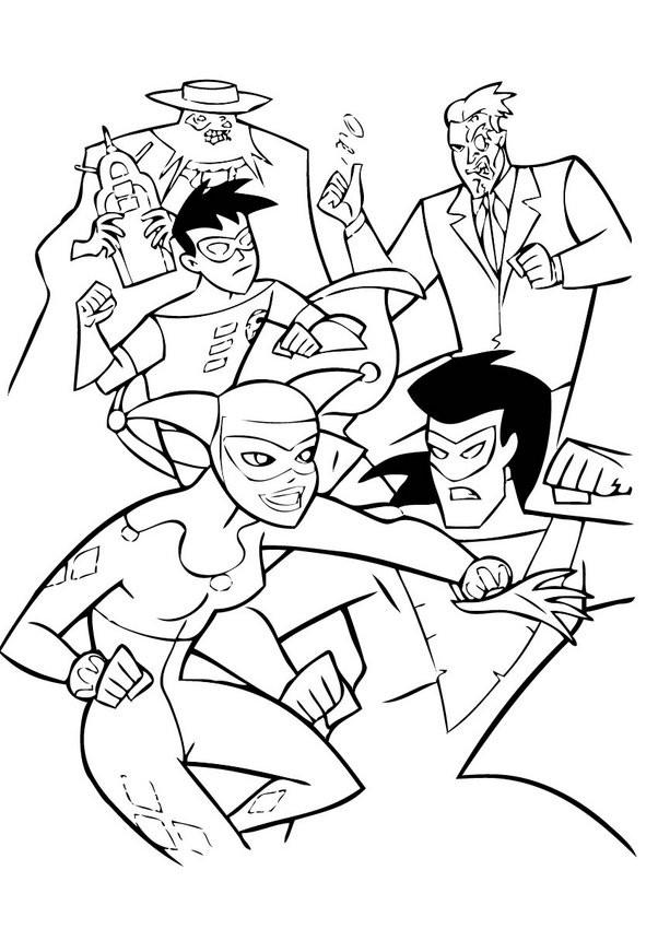 Coloriage et dessins gratuits Combat dessin animé à imprimer