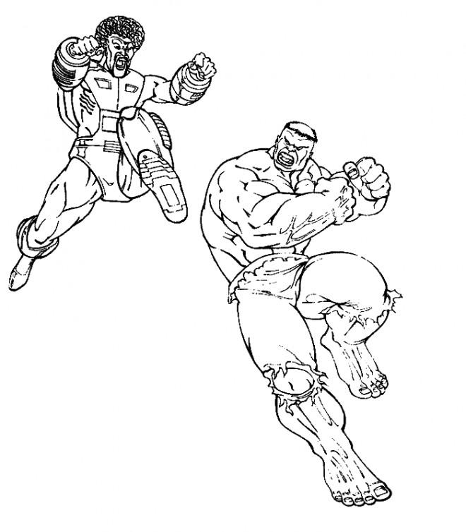 Coloriage et dessins gratuits Combat entre les géants à imprimer