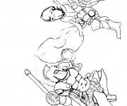Coloriage Combat Guerriers