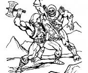 Coloriage Combat héros imaginaires