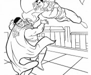 Coloriage et dessins gratuit Combat Superman à imprimer