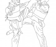 Coloriage Combat Taekwondo