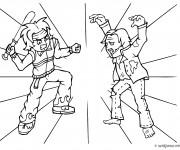 Coloriage Combat Zombie