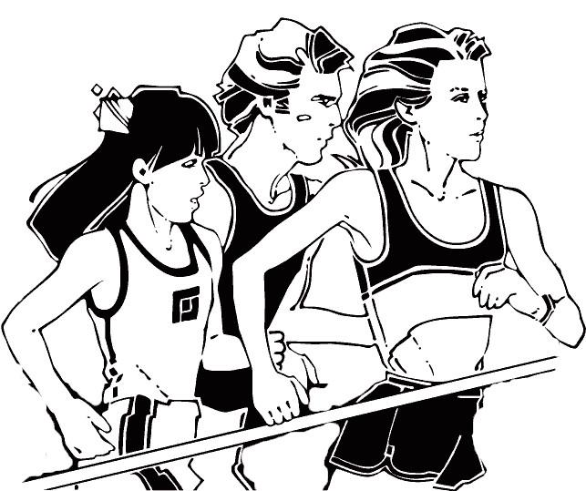 Coloriage et dessins gratuits Athlétisme vecteur à imprimer