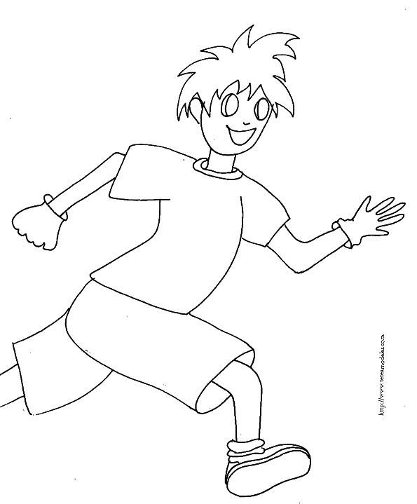 Coloriage et dessins gratuits Courir à colorier à imprimer