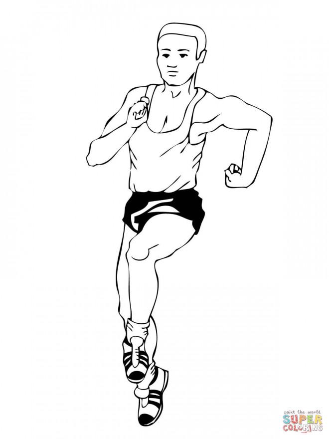 Coloriage et dessins gratuits Athlète marche athlétique Jeux Olympiques à imprimer