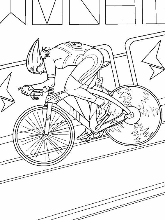 Coloriage cyclisme de salle dessin gratuit imprimer - Cycliste dessin ...