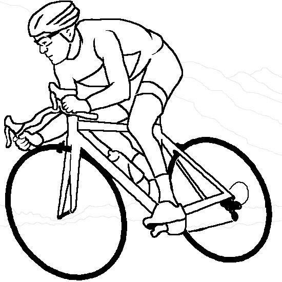 Coloriage cyclisme maternelle dessin gratuit imprimer - Dessin cycliste ...