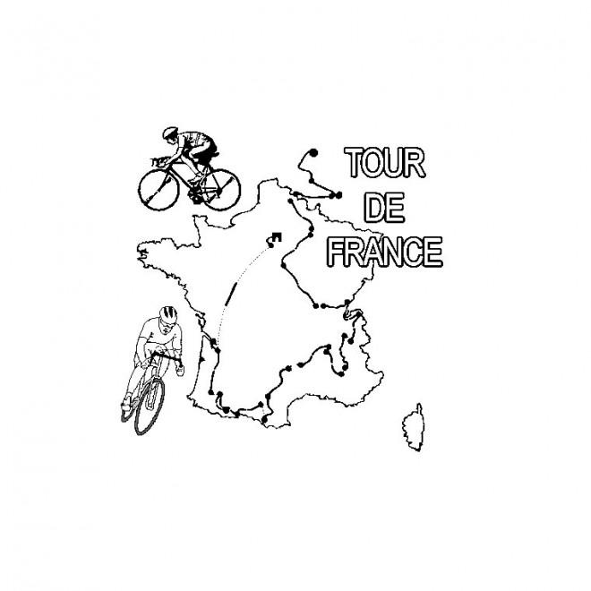 Coloriage Cyclisme Tour De France Dessin Gratuit à Imprimer