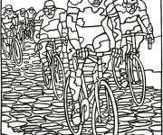 Coloriage dessin  Cyclisme 13