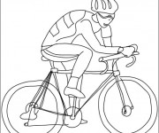 Coloriage dessin  Cyclisme 16