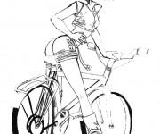 Coloriage dessin  Cyclisme 18