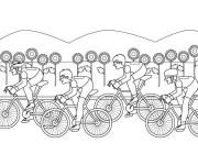 Coloriage cyclisme 5 gratuit imprimer en ligne - Coloriage de cycliste ...