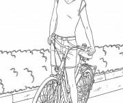 Coloriage dessin  Cyclisme 8