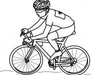 Coloriage et dessins gratuit Cyclisme à découper à imprimer