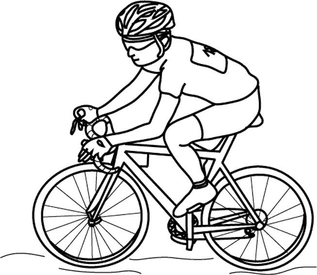 Coloriage et dessins gratuits Cyclisme à découper à imprimer