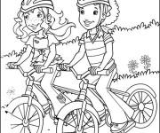 Coloriage et dessins gratuit Cyclisme dans la Campagne à imprimer