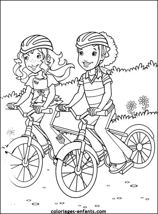 Coloriage et dessins gratuits Cyclisme dans la Campagne à imprimer