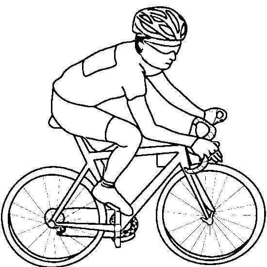 Coloriage cyclisme en couleur dessin gratuit imprimer - Cycliste dessin ...