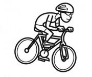 Coloriage et dessins gratuit Cyclisme facile à imprimer