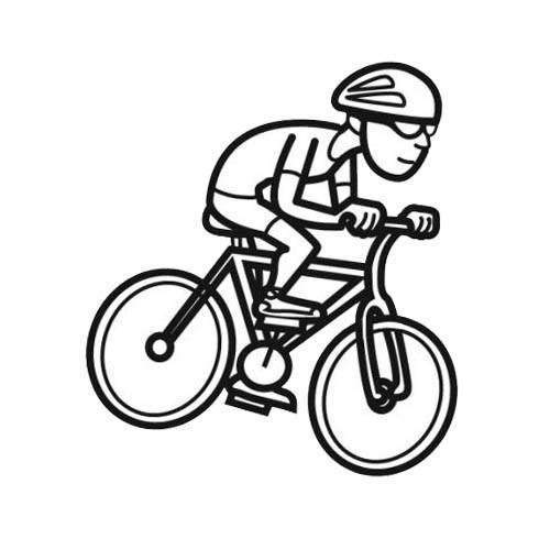 Coloriage cyclisme facile dessin gratuit imprimer - Dessin cycliste humoristique ...