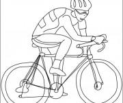 Coloriage et dessins gratuit Cyclisme pour enfant à imprimer