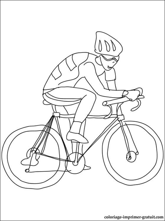 Coloriage et dessins gratuits Cyclisme pour enfant à imprimer
