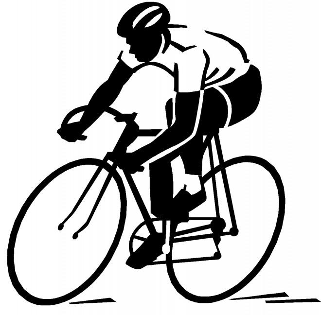 Coloriage Cyclisme Silhouette Dessin Gratuit A Imprimer