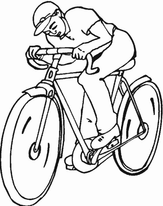 Coloriage et dessins gratuits Cyclisme simple à imprimer