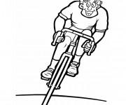 Coloriage Cycliste heureux