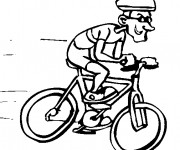 Coloriage Cycliste humour