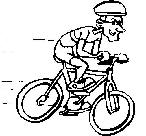 Coloriage cycliste humour dessin gratuit imprimer - Dessin cycliste humoristique ...
