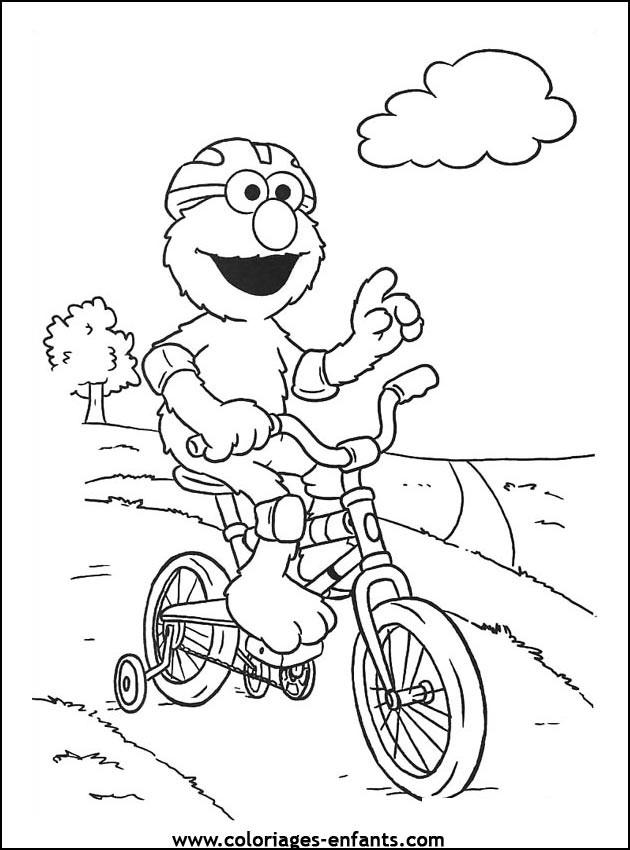 Coloriage et dessins gratuits Cycliste rigolo à imprimer