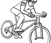 Coloriage Cycliste sur vélo