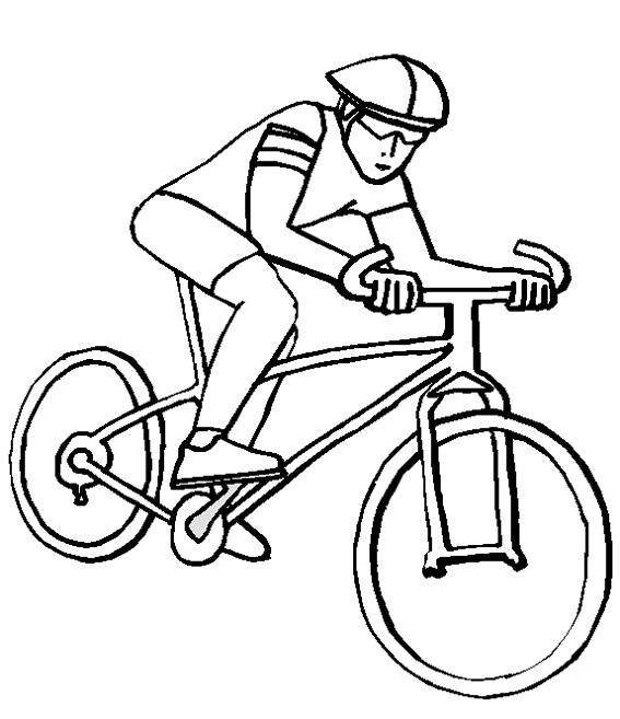 Coloriage cycliste sur v lo dessin gratuit imprimer - Dessiner un yorkshire ...